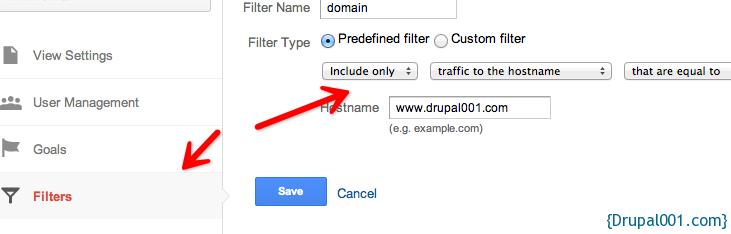 GA过滤domain信息